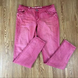 2/$15 Mossimo Red Skinny Jeans Size 11